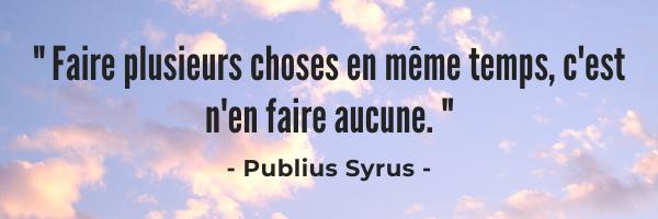 Citation de Publius Syrus